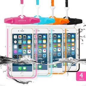 Waterproof Case for Phones <br><small>Pack of 4</small>